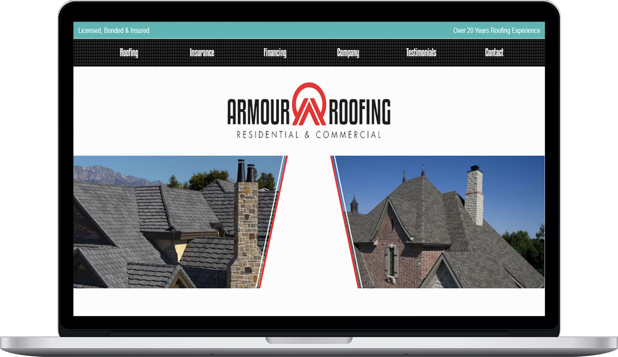 Armour Roofing  Website design