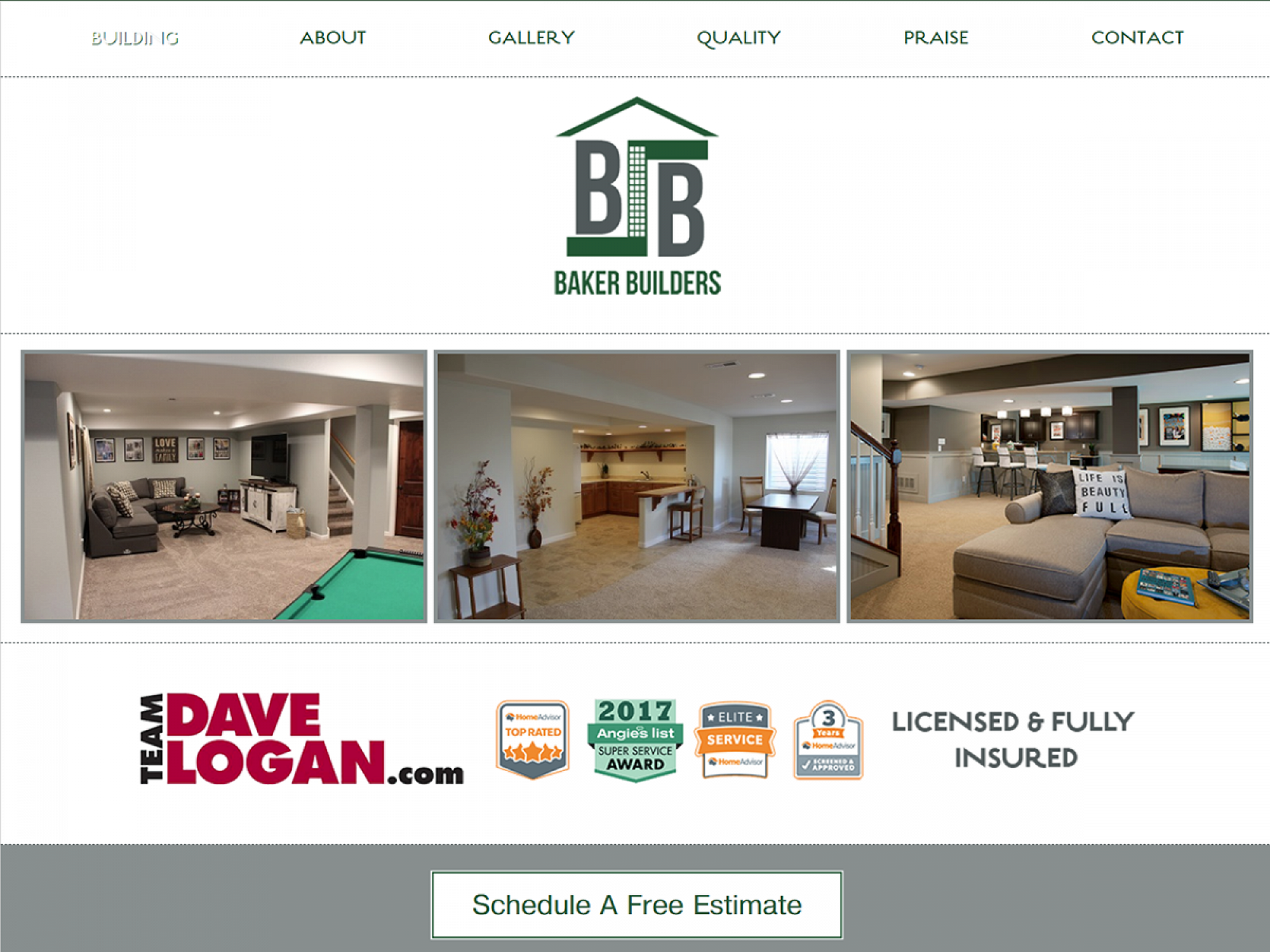 Baker Basements Web Design
