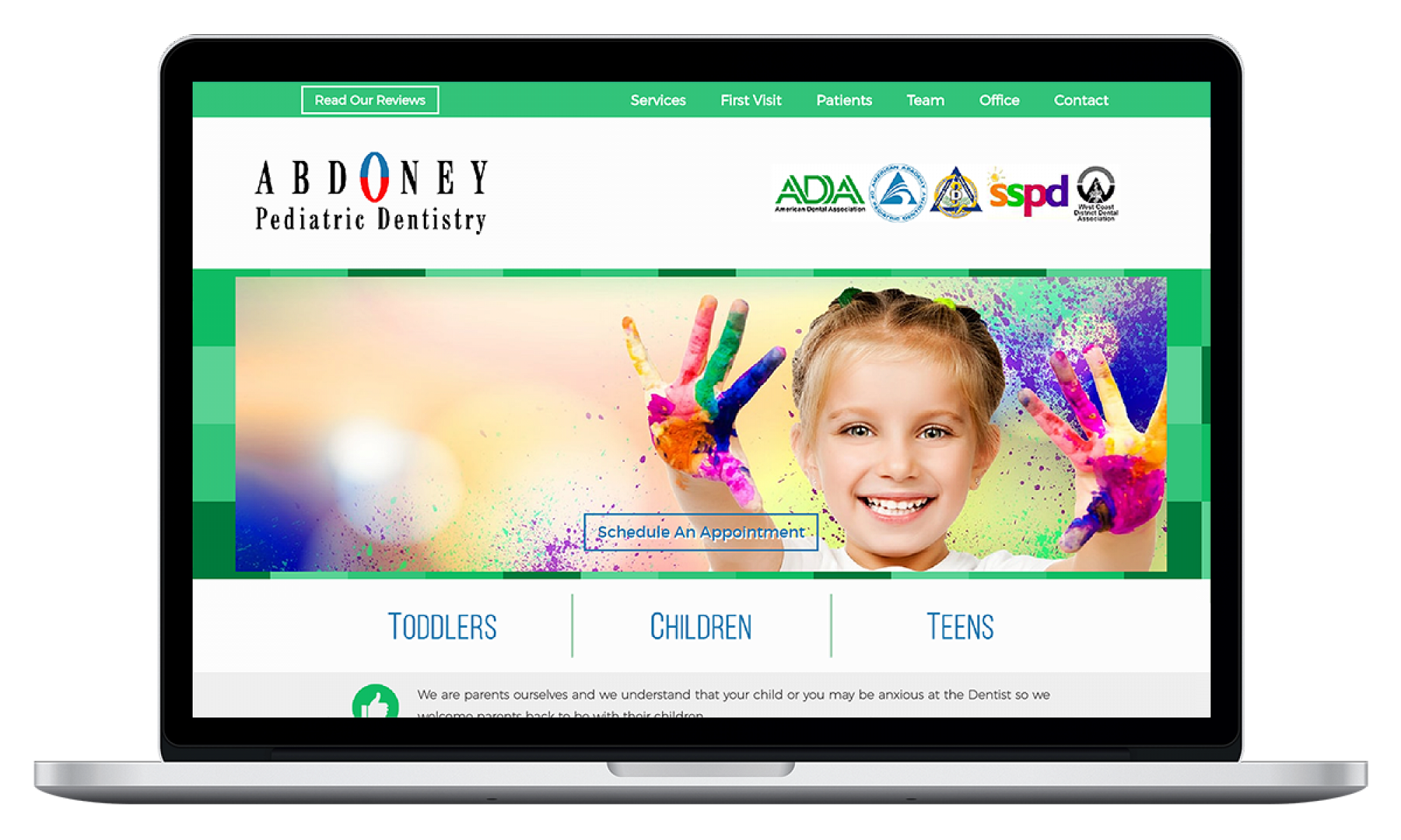 Abdoney Pediatric Dentistry - Website Design