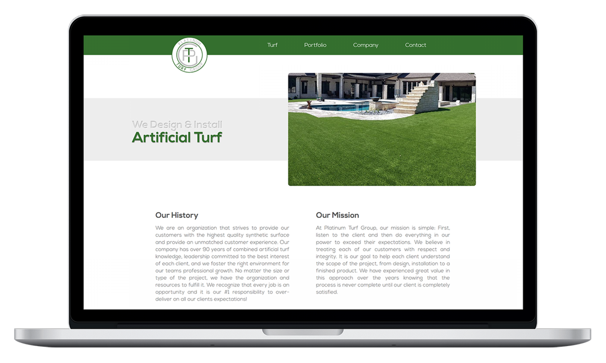 Platinum Turf Group Home Page
