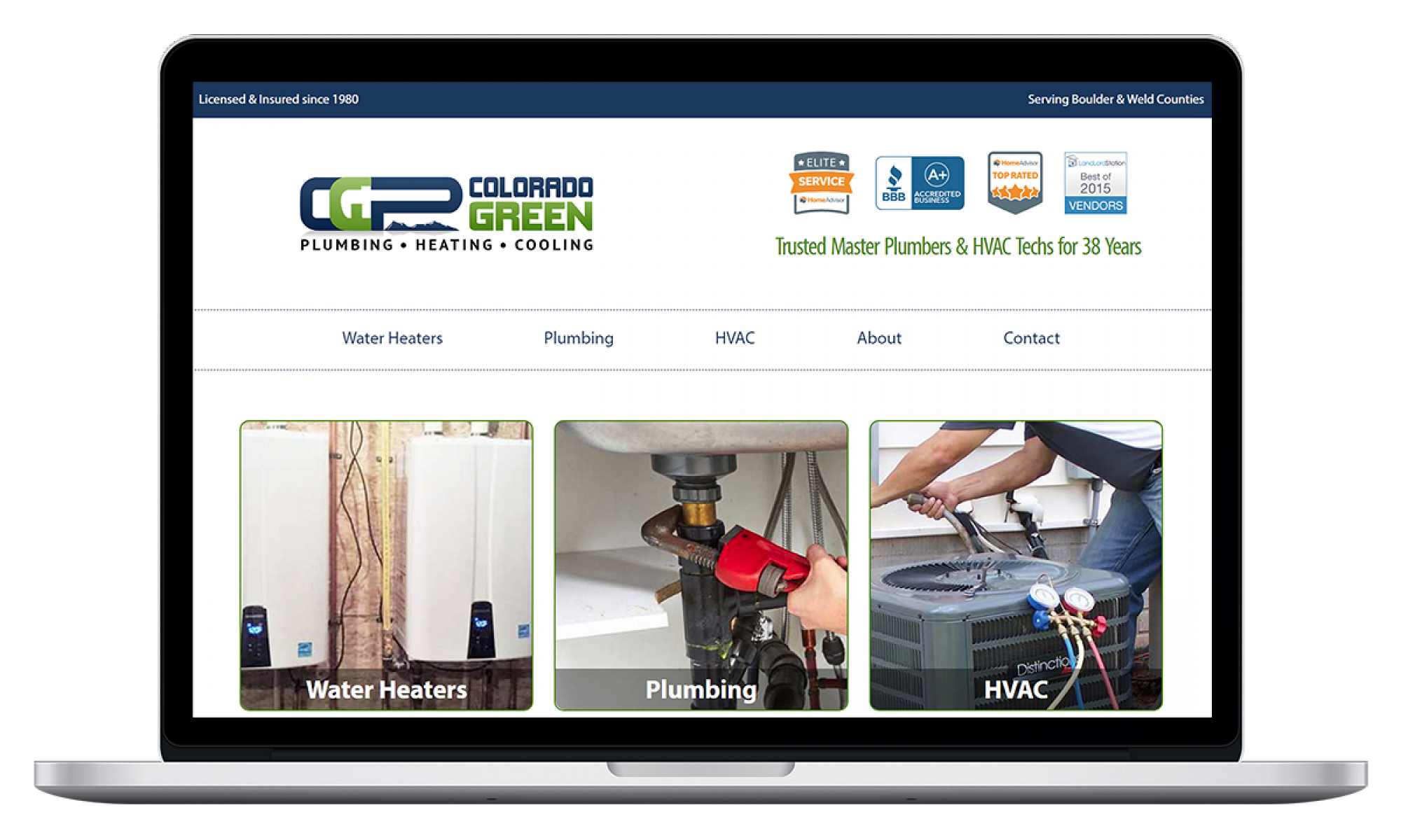 Colorado Green Plumbing - Website Design