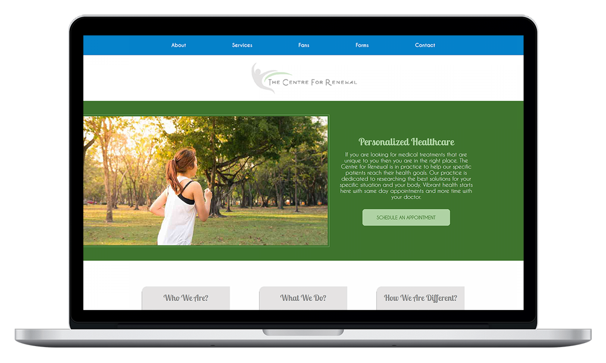 Centre For Renewal Website Design