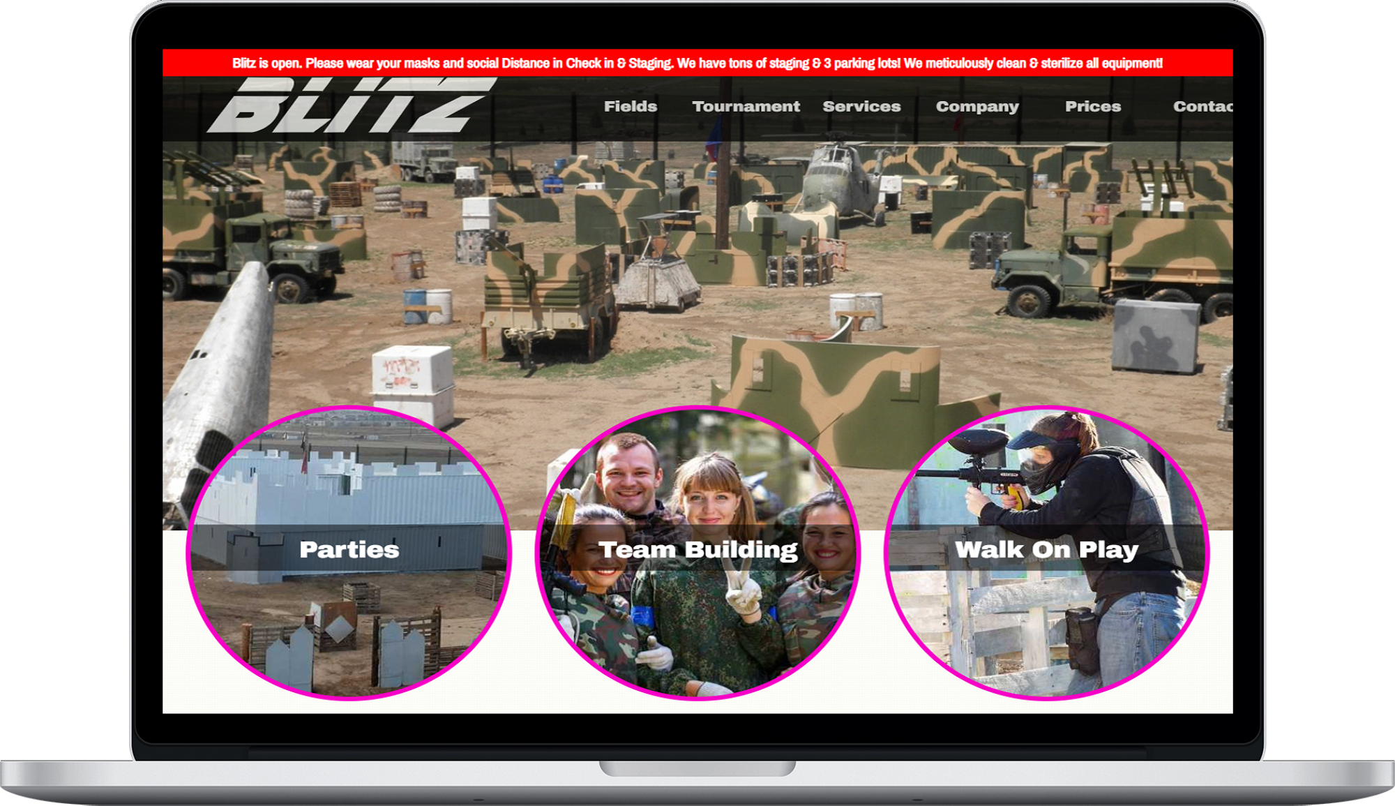Blitz Paintball Website Design