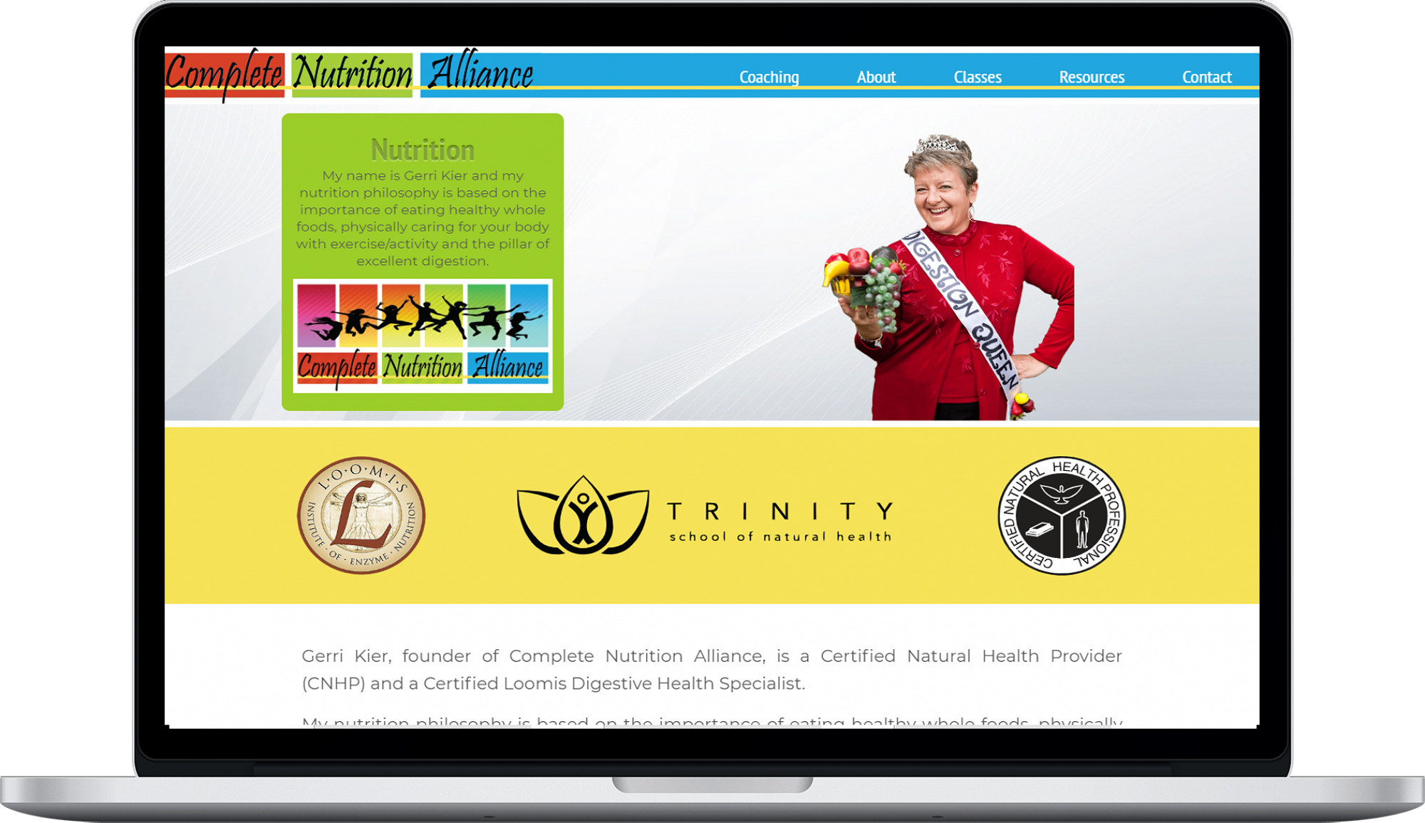 Complete Nutrition Website design