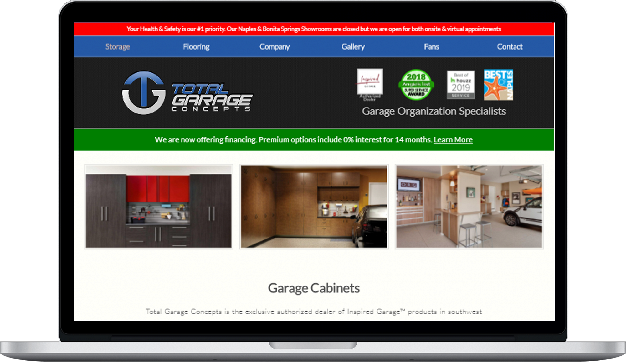 Total Garage  Website design
