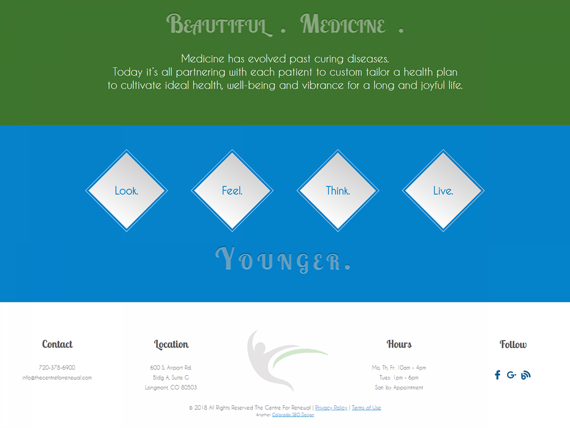 Centre For Renewal Supplement & Footer - Web Design
