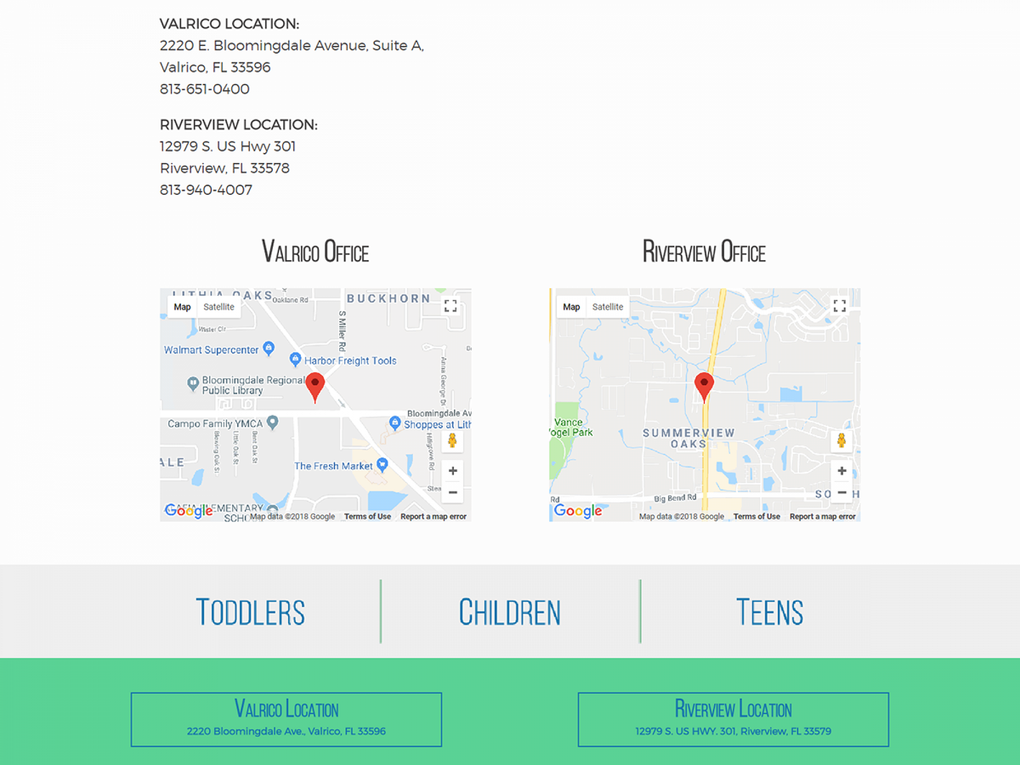 Abdoney Pediatric Dentistry Contact Website Design