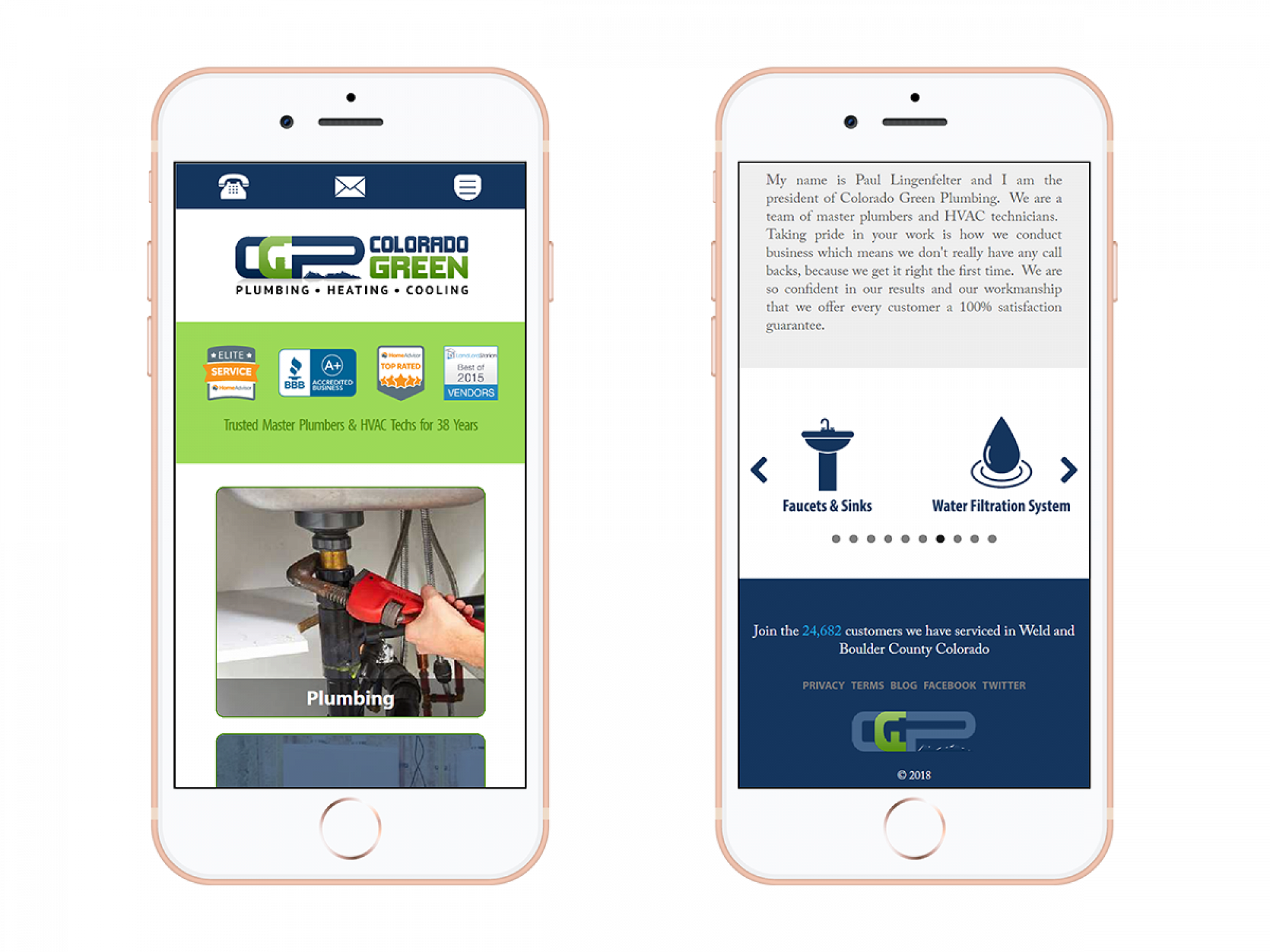 Colorado Green Plumbing Mobile Screenshot